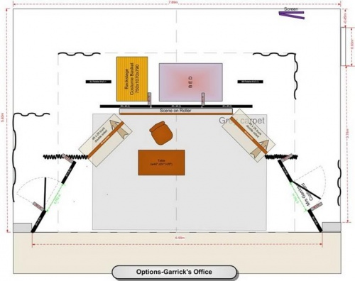 Stage plan-Options-Garrick's Office