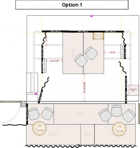Stage plan-Lighting-Option 1